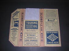TOURING CLUB ITALIANO. 1926 LARGE MOTORING MAP & GUIDE IN CASE. ADVERTS.