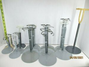 """22 doll stands metal un-extended 3 1/2"""" to 11"""" 12  wire coated mix styles"""