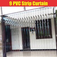 "6""x6.8"" 9xPVC Strip Plastic Curtain For Warehouse Door Insulation Cooler Freezer"