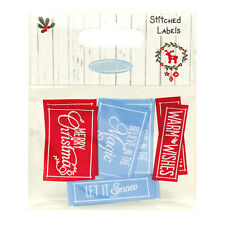 Me To You Christmas Stitched Labels for cards & crafts
