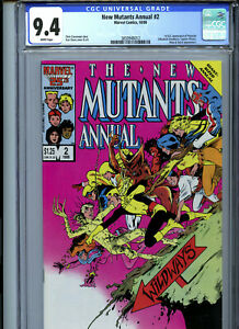 New Mutants Annual #2 (1986) Marvel CGC 9.4 White Pages 1st Psylocke