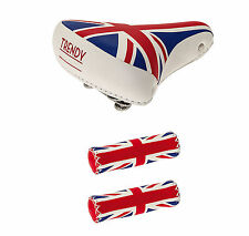 Sillin de GEL para Bicicleta de Muelles + Puños Piel INGLATERRA UK 3899 3913UK