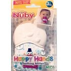 NUBY+Happy+Hands+SNOWMAN+TEETHING+MITTENS+Age+3%2B+Mos+%7E+New+in+Package