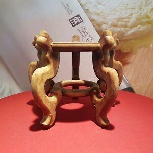 Alte chinesische Sockel aus gutem Holz Holzständer Holzschnitzerei