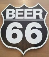 Beer 66 Wooden Sign