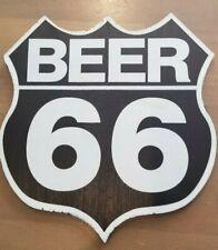 Beer 66 Wooden Sign, Man Cave/ Garage/ Bar Wall Art