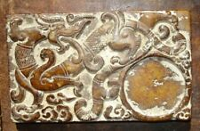 Vintage Chinese inkstone with Dragon, Makara, mythical creatures