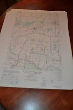 1940's Army topographic map Churchville New York -Sheet 5470 III SW