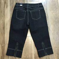 Lane Bryant Venezia NWT Womens Capris 21 Jeans Size 14 Black Cropped Denim Pants
