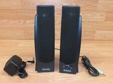 Genuine Altec Lansing Series 100 Black Left & Right Computer Speakers w/ Power