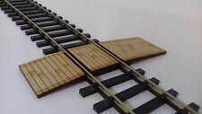 Laser Cut O Gauge Railway Track Foot or Barrow Crossing Pack of 2 Crossings