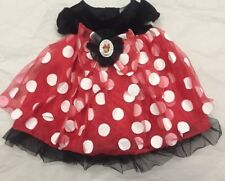 girls infant baby 6-12 months MINNIE MOUSE Dress costume red white polka dots