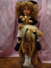 VINTAGE VERY RARE CHRISTMAS SANTAS BEST MOTION ANIMATED ROCKING HORSE DOLL