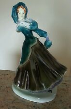 Goldscheider Goldcrest Pottery Lady with a Parasol Figurine 11 1/2 inches