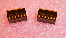 QTY (90) GDP06 ALCOSWITCH 6 POSITION PIANO DIP SWITCH SPST SEALED