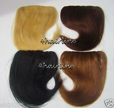 """8"""" Bangs Human Hair Extensions Clip in clip on #1 #4 #6 #613"""