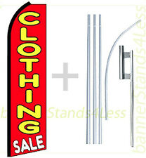 Swooper Feather Flutter Tall 15' Banner Sign Flag Kit- CLOTHING SALE