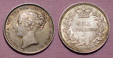 1839 QUEEN VICTORIA SHILLING - High Grade Coin With Unlisted Errors