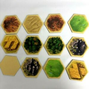 Catan 11 Terrain Hex Tiles replacement cards 5-6 Player Extension