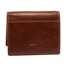 Hansson - Brown Italian Leather Credit Card Wallet with RFID Protection