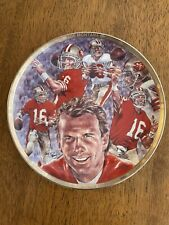 """1990 Sports Impressions Joe Montana 49ers Collector's Plate 8.5"""" /5,000 Pieces"""