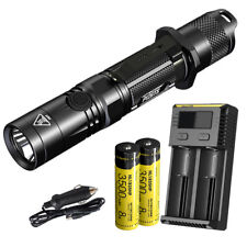 NITECORE P12GTS 1800 lm LED Tactical Flashlight wtih 2x Batteries & Charger
