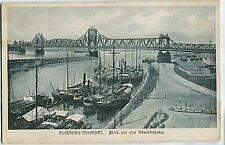 D 34 - Duisburg-Ruhort, Rheinbrücke m. Schiffen, 1922 gelaufen