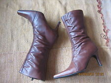 Lotus Ladies Mid Brown/ Tan Leather Boots Size UK6