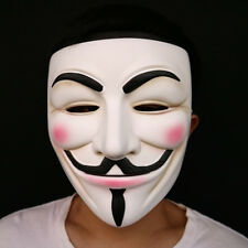 Halloween Guy Fawkes V FOR Vendetta Anonymous mask Resin Adult resin