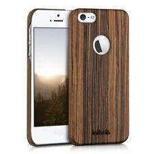 kalibri Holz Hülle für Apple Iphone Se 5 5S Lindenholz Braun Schutzhülle Natur