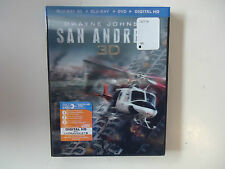 San Andreas (Blu-ray Disc, 2015, 3D) NEW w/lenticular cover
