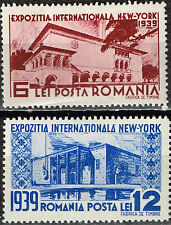 Romania New York World Fair Country Pavilion stamps 1939 Mlh