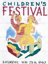 ADVERT CHILDREN'S FESTIVAL MAY 25TH, 1940 QUEENSBRIDGE FINE ART PRINT CC204