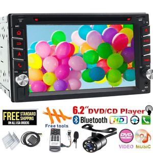 """6.2"""" Double 2 DIN Car Stereo DVD Player GPS Navi TV Touch Radio USB+MAP+Camera"""