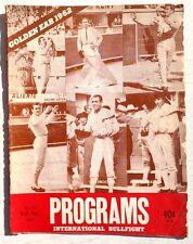 Vintage Sept - Oct 1962 Programs International Bullfight Bullfighting Magazine