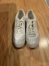 Nike Air 313642-111 All White Men's Lace Up Sneakers Size 13 US - 47.5 EU - Rare