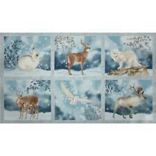 "11.5/"" X 44/"" Robins Michigan Birds Flowers Digital Cotton Fabric Panel D371.26"
