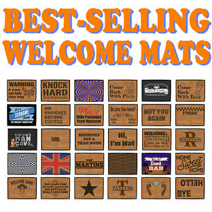 Funny Novelty Doormat Novelty Door Mat Christmas Home Office man cave Caravan