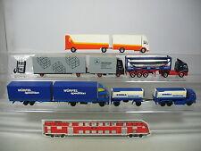 AI767-0,5# 5x Herpa H0 LKW Mercedes: Kroll+Würfel Spedition+P&O Tankmasters etc