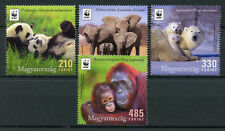 Hungary 2018 MNH WWF Iconic Animals 4v Set Pandas Polar Bears Elephants Stamps