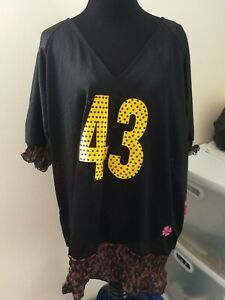 NWT Pittsburgh Steelers NFL Luck Women's # 43 Off Shoulder Jersey Shirt Size 3XL