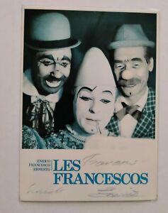 Vintage 1970s Signed Clown Promotion Photo.,(Les Francescos).