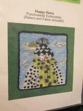 Happy Harry Punchneedle Pattern & Fabric-Mile High Princess Designs