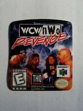 WCW nWo REVENGE N64 cartridge replacement label sticker precut Nintendo 64