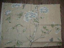 51cm Zoffany Woodville Bird Curtain Upholstery Linen Blend Fabric Remnant
