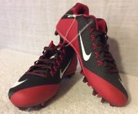 Nike Alpha Pro 2 II 3/4 TD Football Cleats Black. Red. Men's Size 14. RARE COLOR