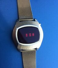 Vintage LED Watch In Working Order Great Condition Almost NOS!