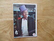 1966 VINTAGE TOPPS BATMAN BAT LAFFS GUM CARD # 39, BURGESS MERIDITH AS PENGUIN