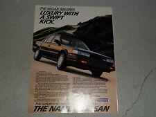 1987 NISSAN MAXIMA article / ad