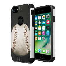 Dual Layer Armor Combat Case for iPhone 7 6s 6 - Baseball